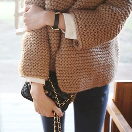 winter style/CHANEL bag.