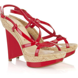 Christian Louboutin  - Mimi Bis 110 wedge sandals RED