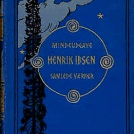Book design by Gerhard Munthe (1849-1929) for five volume memorial edition of Henrik Ibsen's (1828-1906) Collected Works, 1906-07