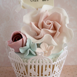 Cute birdcage wrappers : cupcakes