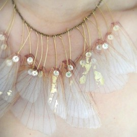 jewelera - Wings of Iris- Organza Necklace