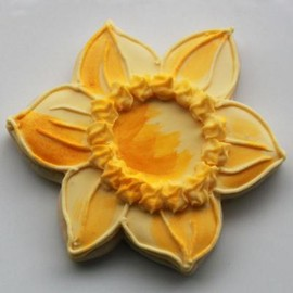 Whipped Bakeshop Philadelphia - Painted Daffodil Cookie Favors
