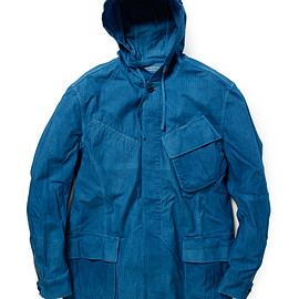 nonnative - TROOPER HOODED JACKET COTTON RIPSTOP OVERDYED WITH RYUKYU INDIGO for UA&SONS