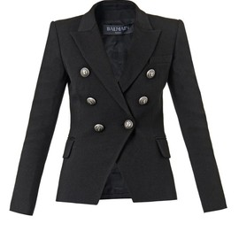 BALMAIN - Double-breasted wool-blend jacket