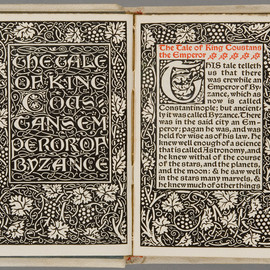 William Morris - The tale of the Emperor Coustans and of Over sea, Limited 525 copies, Kelmscott Press, 1894