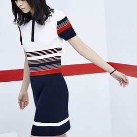 Rag & Bone - Rag & Bone Krista Striped Polo Dress