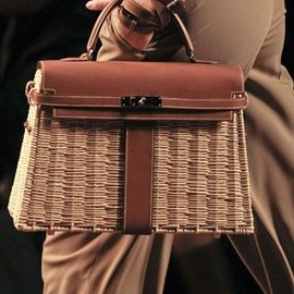 HERMES - straw kerry bag