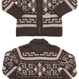 WTAPS - WTAPSCOWICHANSWEATER.WOOL(カウチンジャケット)BROWN229-000083-046-【新品】【smtb-TD】【yokohama】