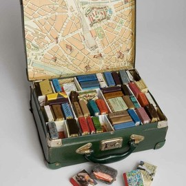 suitcase full of tiny tiny books