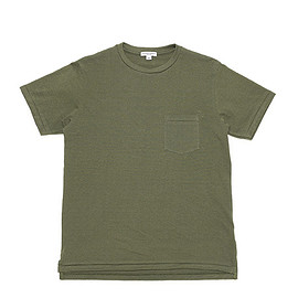 WORKADAY - Crossover Neck Pocket Tee-Olive