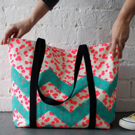 Harvest Textiles - Image of DOT ZAG TOTE