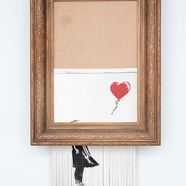 Banksy - 「Love is in the Bin」(旧作品名「Girl with Balloon」)