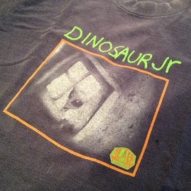"""FRUIT OF THE LOOM - 「<used>90's FRUIT OF THE LOOM """"DINOSAUR Jr.""""TEE navy""""made in USA"""" size:L(resize M) 7000yen」完売"""