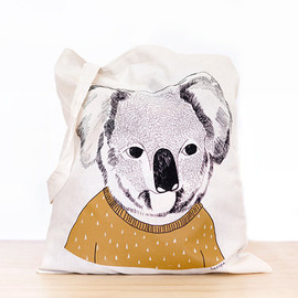 depeapa - Koala - screen printed canvas Tote bag