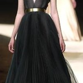 CHANEL - Black ciffon dress