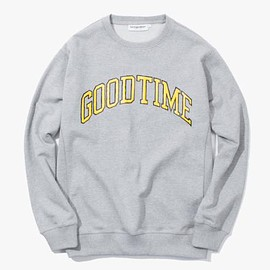 have a good time - GOODTIME COLLEGE CREWNECK HEATHER