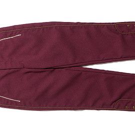 AiE - KZT Pant-Polyester Dry Serge-Maroon