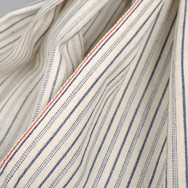 The Hill-Side - Selvedge Ticking Stripe Twill Scarf, Natural (S70-045)