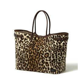 "HEAD PORTER - ""LEOPARD"" TOTE BAG (L)"