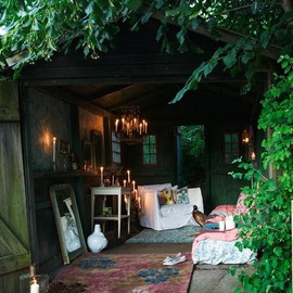myidealhome:bohemian alcove in the garden (via desire to inspire - FrederikkeHeiberg)