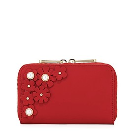 Zac Zac Posen - Earthette Index Wallet - special jewel flowery version in red