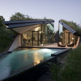 Bercy Chen Studio Architecture - Edgeland Residence, banks of Colorado River, USA