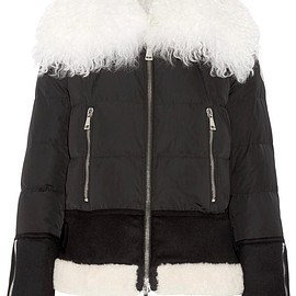 Moncler - Kikilia shearling-trimmed quilted shell down jacket