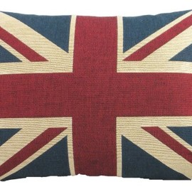 Evans Lichfield - Union Jack Traditional Tapestry Cushion, 18 x 13 Inch, Polyester Fibre Filled