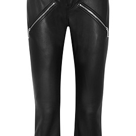 Alexander Wang - Cropped leather skinny pants