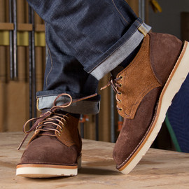VIBERG - OLD OXFORD TWO TONE SUEDE