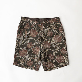 VOO - SPECIAL FLORAL SHORTS [BROWN]