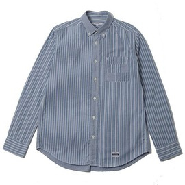 BiceSter - Bicester Long Sleeve Mix Panel B.D Shirt -Multi Stripe