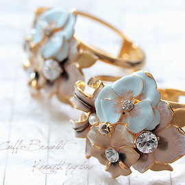 Kenneth Jay Lane - flower bangle