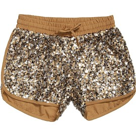 Little Marc Jacobs - Girls Metallic Gold Sequin Shorts