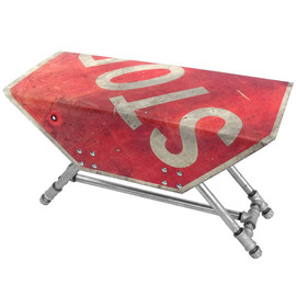 Tim Delger - Stop Sign Side Table(Road Sign Furniture)