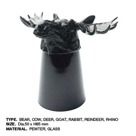Goody Grams - Animal shot glass Black Reindeer