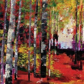 InGallery.com - Prism Trees by Patrick Fine Art Canvas 36 x 62 in Gallery Wrap Wall Decor