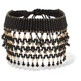 Erickson Beamon - Party Mix gold-tone, bead and satin choker