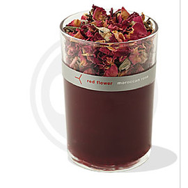 red flower - moroccan rose candle