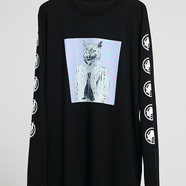 NADA. - Cat long sleev tee/ Black