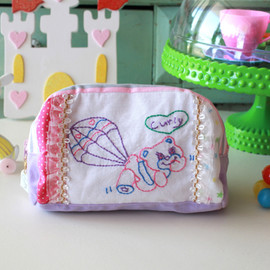 Curly Collection - Cosmetic fabric pouch☆バルーンベア
