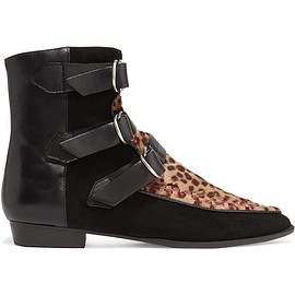 Isabel Marant - Rowi leather, suede and leopard-print calf hair boots
