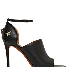 GIVENCHY - 100MM MICHELA LEATHER SANDALS