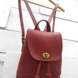 Coach - old coach leather bag red