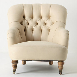Anthropologie - Linen Corrigan Chair
