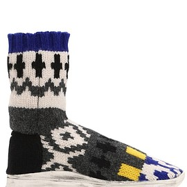 Maison Margiela - FW2018 SOCK JACQUARD KNIT HIGH TOP SNEAKERS