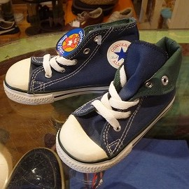 "converse - 「<deadstock>90's converse CHILD ALLSTAR HI navy""made in USA"" size:US8(14cm) 2800yen」完売"