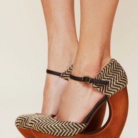 Back ribbon suede wedge/BLACK