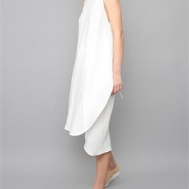 Creatures of Comfort - Katya Dress- Italian Linen White