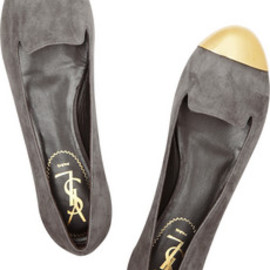 Yves Saint Laurent - Evalyn suede and metal loafers